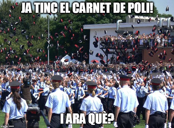 Dia de graduació de mossos d'esquadra. Ja tinc el carnet de poli, i ara què?