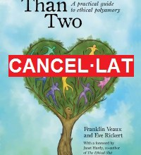 Cartell cancel·lat sobre portada del llibre More Than Two