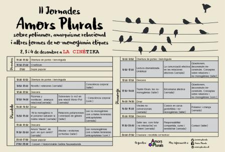 Programa 2es Jornades Amors Plurals
